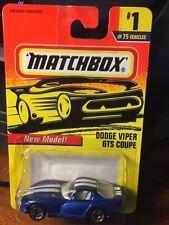 1997 MATCHBOX New Model Dodge Viper GTS Coupe #1 Blue