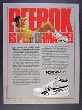 1987 Reebok Pro Workout Mid Fitness Shoe vintage print Ad