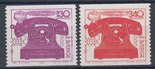Suède sweden 1976 ** mi.939/40 téléphone telephone communication [sq4436]
