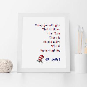 NEW Dr Seuss Youer than You Wall Art Print Women's by Almond Tree Designs