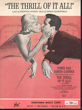 Thrill of it All 1963 Doris Day James Garner Sheet Music
