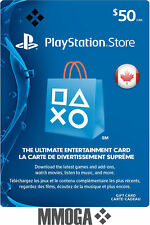 $50 CAD PlayStation Network Store Card - PSN 50 CAD Prepaid Code - For CA Only