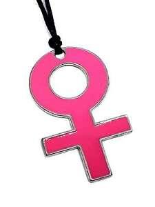Venus Emaille Symbol Anhänger Damen Mädchen Power Leistungsstark Kordel Kette