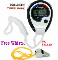 Digital Handheld Sports Whistle & Stopwatch Stop Watch Time Counter Alarm Clock