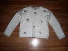 next girls white mohair jumper age 7-8 years