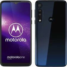 Motorola One Macro Dual Sim 4RAM 64GB Blue Android Smartphone ohne Vertrag