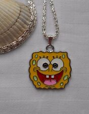Kids childrens silver plated necklace Nickleodeon SpongeBob SquarePants yellow