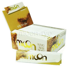 1 box King Size Slim Moon Unbleached Cigarette Tobacco Rolling Paper 1600 leaves
