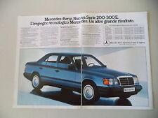 advertising Pubblicità 1985 MERCEDES BENZ 200/300 E