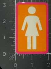 "GIRL SKATEBOARDS PinkOrangeWhit Classic logo Skate Sticker 3.25X2"" helmets decal"