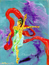"""Ballerina """"Twirling"""" Original Abstract Acrylic Painting by EnChuen Soo"""