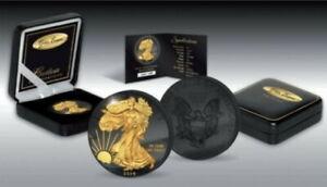 American Silver Eagle 2014 Golden Enigma Ruthenium Gilded 1 oz 999 Silbermünze