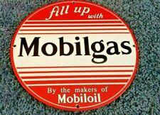 VINTAGE MOBIL GASOLINE PORCELAIN METAL VACUUM OIL GARGOYLE SERVICE STATION SIGN