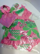 DRESS BLOOMER & TOY Doll Rattle Baby Girl Lil Sprout Size 0-6 Months NWT GIFT