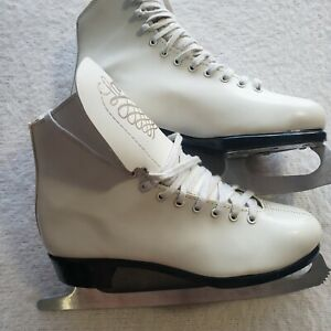 Lange Made in Canada Figure Skates Women's 7 White