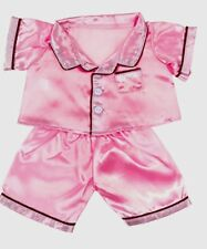 "Teddy Bear PINK SATIN PAJAMAS PJs Costume CLOTHES Fit 8""-10"" Build-a-bear !NEW!"