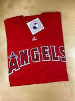 Los Angeles Angels of Anaheim Majestic Red Genuine MLB Mens Medium M T-shirt NEW