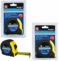 BlueSpot Extra Wide 32mm Blade Tape Measure Imperial Metric Scale 8m Or 10m