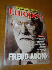 EUROPEO 1987/50=SIGMUND FREUD=ERNESTO SABATO=FRATELLI CASTIGLIONI=JERRY HALL=