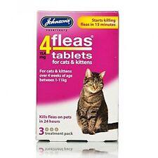 Johnsons 4 Tabletas Para Gatos y Gatitos, 3 Tabletas