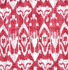 "Indian Ikat Design Cotton Kantha Stitch C/Cover - Cherry stonewash-16""/41 cm"