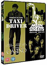Taxi Driver/Casino/Mean Streets (DVD, 2008, 3-Disc Set, Box Set) - DVD NEW SEALE