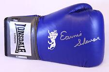 Nuevo Earnie Afeitadoras Firmado 16oz Azul Lonsdale Guante De Boxeo