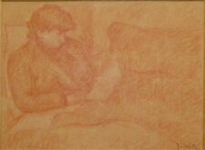 Jules Arthur JOETS (1844-1959) dessin sanguine signé portrait P1495