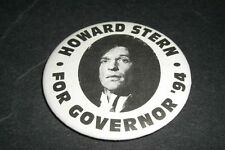 """1994 HOWARD STERN FOR GOVERNOR MINT PIN 2"""" EXCELLENT CONDITION"""