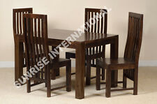 Dark Dakota Range - Solid Wood Dining Table with 4 Chair set (5 pc Set) !!