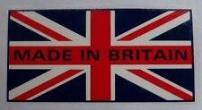 """2404 - MADE IN BRITAIN UNION JACK Decal / Sticker 2.5"""" x 1.25"""" - NEW"""