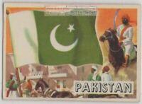 Flag Of Pakistan Islam Moslem Middle East Large Vintage Trade Ad  Card