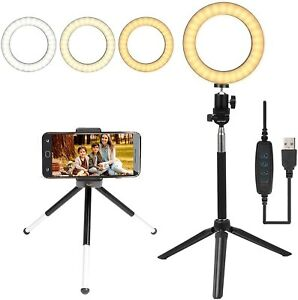 """6"""" Selfie Ring Light with Tripod Stand&Phone Holder for Live Stream Makeup Vlog"""