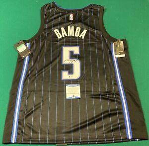 Mo Bamba Signed Authentic Swingman Black Jersey Tagged Nike Disney Beckett Cert
