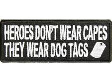 HEROES DON'T WEAR CAPES Embroidered Jacket Vest Funny Biker Saying Patch Emblem