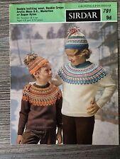 Sirdar Knitting Pattern: Boys & Girls Fairisle Sweaters, 6-10yrs, DK, 791