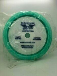 "Gliptone's Green Foam Curved Edge Cutting/Polishing Pad - Velcro® Buffing Pad 7"""
