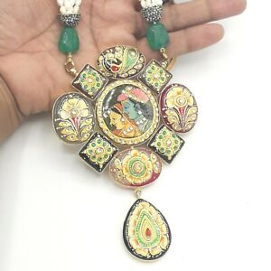 Indian  Raja Rani Haar Mala Kundan Wedding Ethnic Pearl Necklace Bridal Jewelry