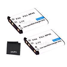 2x NP-45 NP45 Battery + BONUS for FujiFilm FinePix Z30 Z30WP Z31 Z33 Z33WP Z35