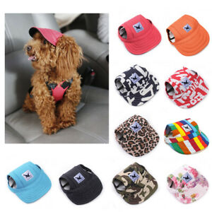 Summer Dog Pet Hat Ear Holes Baseball Cap for Dogs Puppies Outdoor Accessories