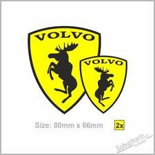 2x VOLVO Wappen Elch -Ferrarie Sticker Aufkleber Elk Moose  S-V90 V60 XC60-70-90