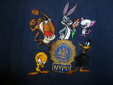 Disney Nypd Short Sleeves T Shirt Blue Cartoons And Nypd Badge Size 2 To  4