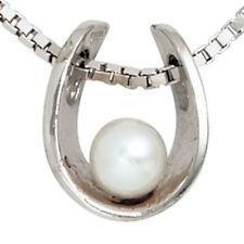 Beschichtete Echtschmuck-Halsketten & -Anhänger mit Perle für Damen