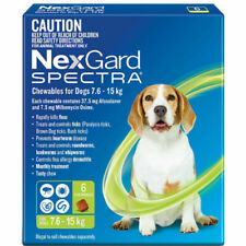 NexGard Spectra Wormer and Flea Chew for Dogs - 6 Pack