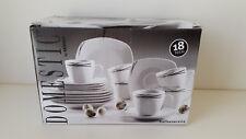 Domestic by Mäser Kaffeeservice für 6 Personen, weiß/schwarz 18-teilig NEU & OVP