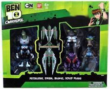 Ben 10 Omniverse Pettaliday, Driba, Blukic & Solid Plugg Action Figure 4-Pack
