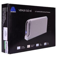 """AMS VENUS Go eS 3.5"""" USB 2.0/eSATA Aluminum External SATA HDD Enclosure/ Silver"""