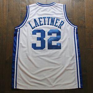 Christian Laettner Autographed Custom Jersey Duke Blue Devils Dave & Adam's COA