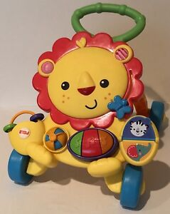 Fisher Price Lion Walker First Step Learning Activity Toy Mirror Piano Musical