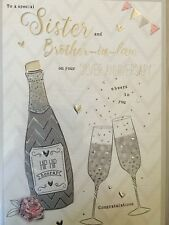Sister & Brother-in-law - Silver Anniversary Card